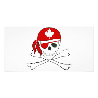 Canadian Pirate Photo Card Template