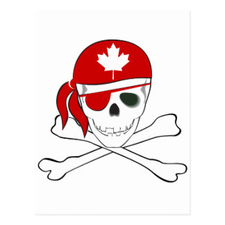 Canadian Pirate Postcard