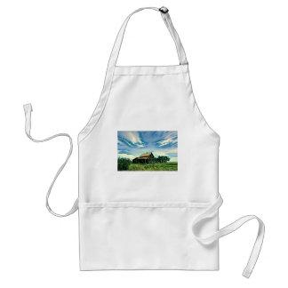 Canadian prairies homestead colour adult apron