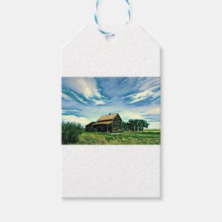 Canadian prairies homestead colour gift tags