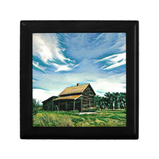 Canadian prairies homestead colour keepsake box