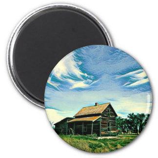 Canadian prairies homestead colour magnet