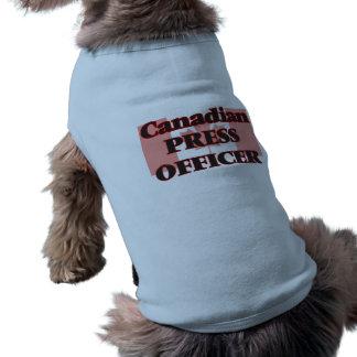 Canadian Press Officer Doggie Shirt