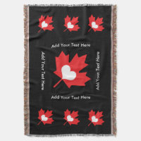 Canadian Pride: Cuddle Up at Hockey Maple Leaf Throw Blanket