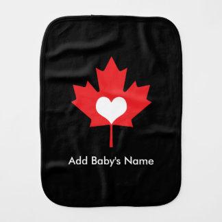 Canadian Pride - I Love Canada Maple Leaf Burp Cloth