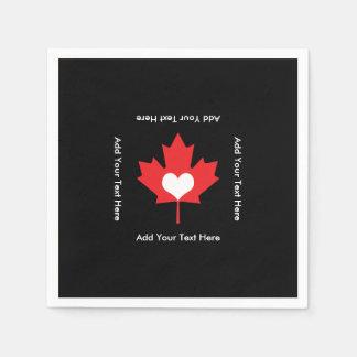 Canadian Pride - I Love Canada Maple Leaf Napkin