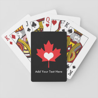 Canadian Pride - I Love Canada Maple Leaf Playing Cards