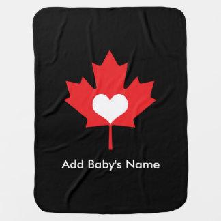 Canadian Pride - I Love Canada Maple Leaf Swaddle Blanket