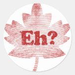 Canadian Pride Maple Leaf Round Sticker