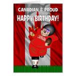 Canadian & Proud American Football Birthday Card
