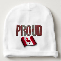 Canadian proud baby beanie
