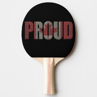 Canadian proud ping pong paddle