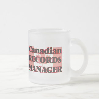 Canadian Records Manager 10 Oz Frosted Glass Coffee Mug