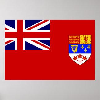 Canadian Red Ensign flag Poster