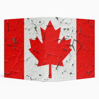 Canadian Red Maple Leaf CANADA Peeling Paint style 3 Ring Binder