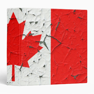Canadian Red Maple Leaf CANADA Peeling Paint style Binder