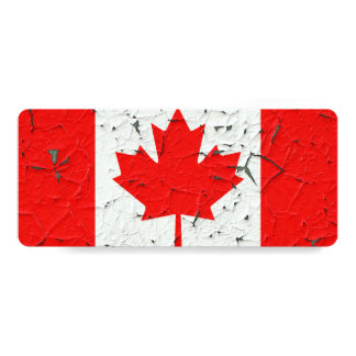 Canadian Red Maple Leaf CANADA Peeling Paint style Card