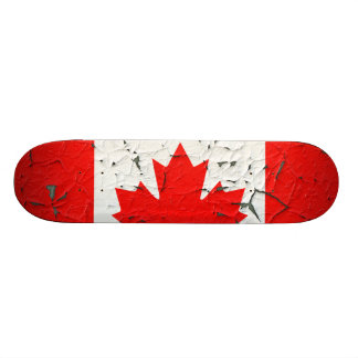Canadian Red Maple Leaf CANADA Peeling Paint style Skateboard
