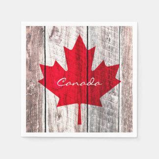 Canadian red maple leaf flag paper napkin