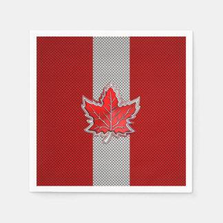 Canadian Red Maple Leaf in Carbon Fiber looks Paper Napkin