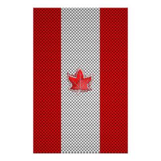 Canadian Red Maple Leaf in Carbon Fiber looks Stationery