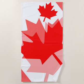 Canadian red Maple Leaf Layered Style CANADA Beach Towel