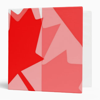 Canadian red Maple Leaf Layered Style CANADA Binder