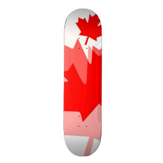 Canadian red Maple Leaf Layered Style CANADA Skateboard
