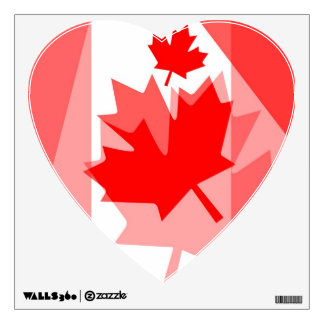 Canadian red Maple Leaf Layered Style CANADA Wall Decal