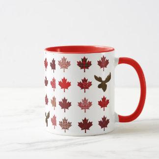 Canadian Red Maple Leaf (leaves and moose) Mug