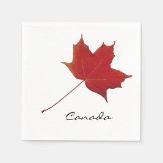canadian red maple leaf napkin