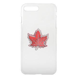 Canadian Red Maple Leaf on Carbon Fiber iPhone 8 Plus/7 Plus Case