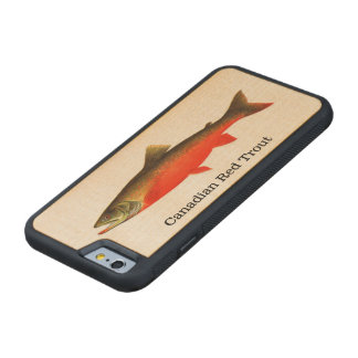 Canadian Red Trout Fish Fishing Maple iPhone 6 Bumper Case