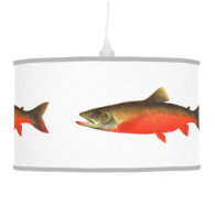 Canadian Red Trout Fish Pendant Lamp