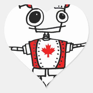 Canadian Robot Heart Sticker