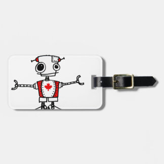 Canadian Robot Tag For Bags