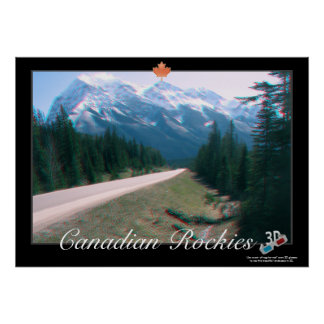 Canadian Rockies 3D Anaglyph Poster