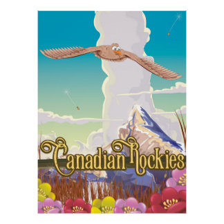 Canadian Rockies Eagle travel poster