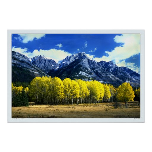 Canadian Rockies in Autumn Poster