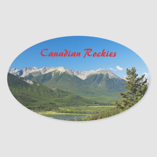 Canadian Rockies Oval Sticker