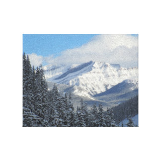 Canadian Rockies Premium Wrapped Canvas Wall Art