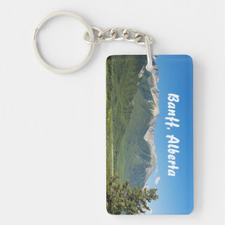 Canadian Rockies Rectangular Key Chain