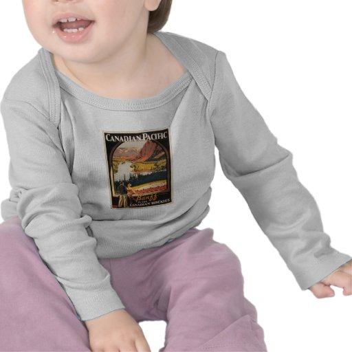 Canadian Rockies Travel Poster Infant Long Sleeve Tshirt