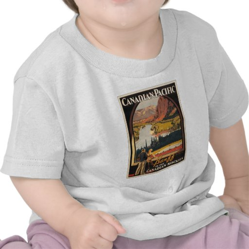 Canadian Rockies Travel Poster Infant Tee