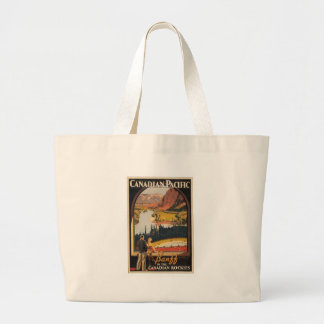 Canadian Rockies Travel Poster Tote Bags