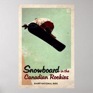 Canadian Rockies - Vintage Effect Poster