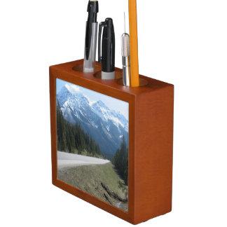Canadian Rocky Mountains Desk Organizer