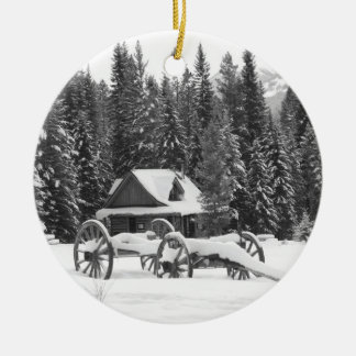 Canadian Rocky Mountains Winter Wonderland Christmas Ornaments