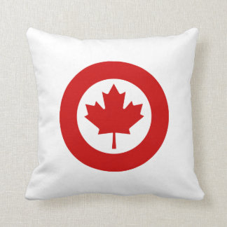 Canadian Roundel Throw Pillow