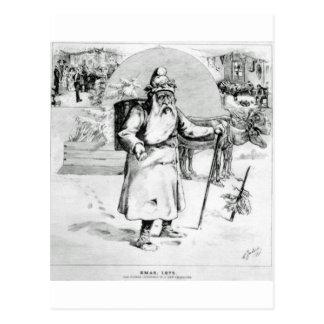 canadian santa 1875 postcard